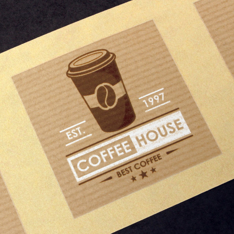 Brown kraft paper label